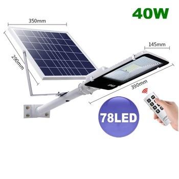 4 Stuks Led Wall Street Licht 20W 40W 70W 100W 200W IP65 Waterdichte Outdoor Solar Powered Light Control Voor Tuin Yard Straat Lamp