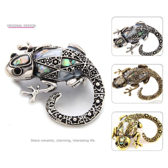 Mloveacc винтажные яркие брошь ящерица Морская ракушка животные