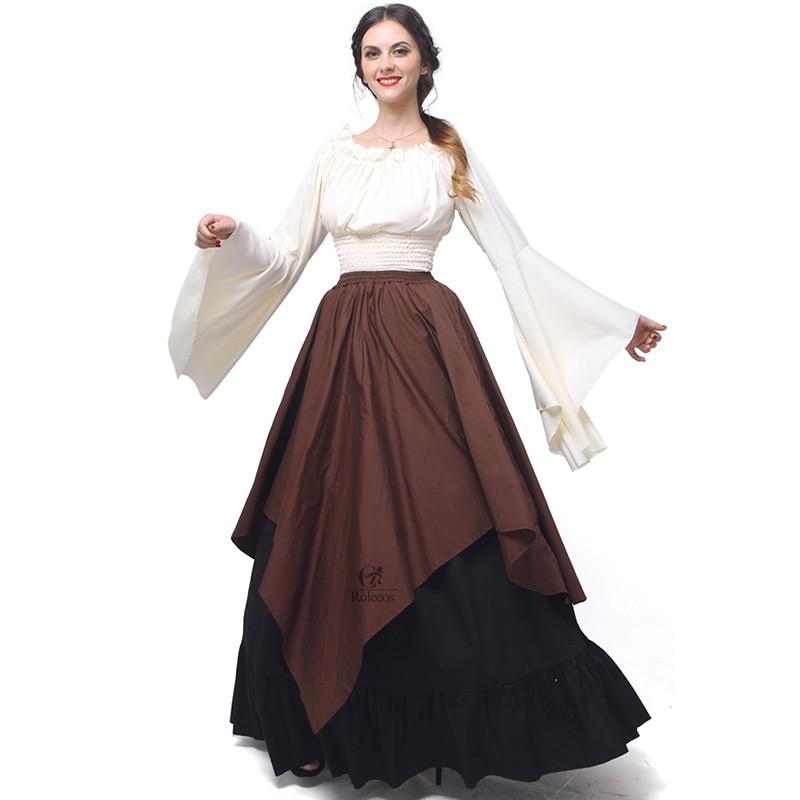 Rolecos Gothic Lolita Chiffon Dresses Wanita Renaissance Dresses - Kostum karnival - Foto 5