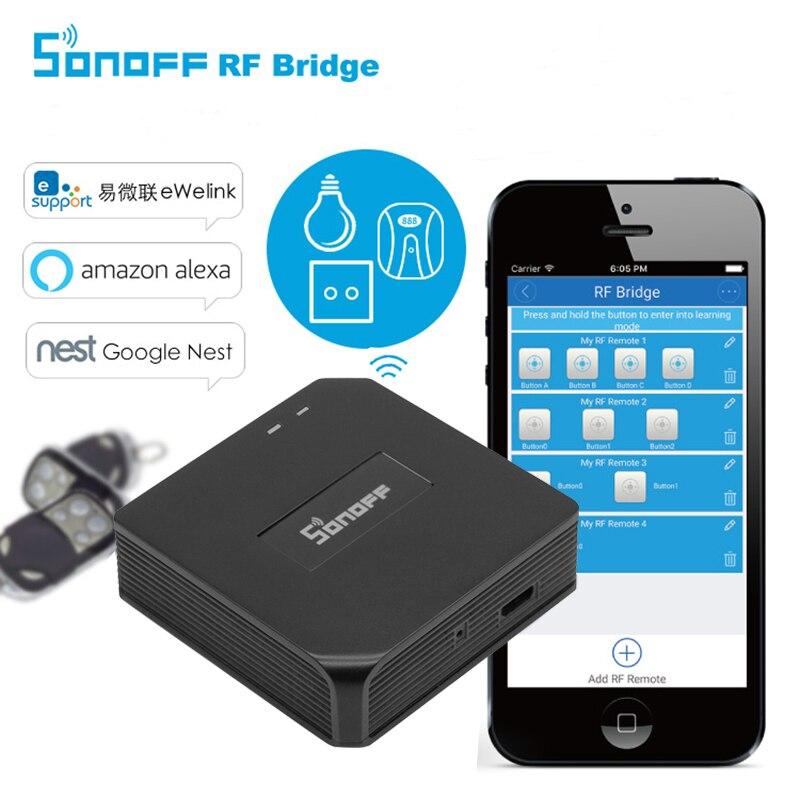 Sonoff RF Bridge Remote Universal Automation Control WiFi Convert 433MHz Wireless Domotica Switch RF Remote Controller EWeLink