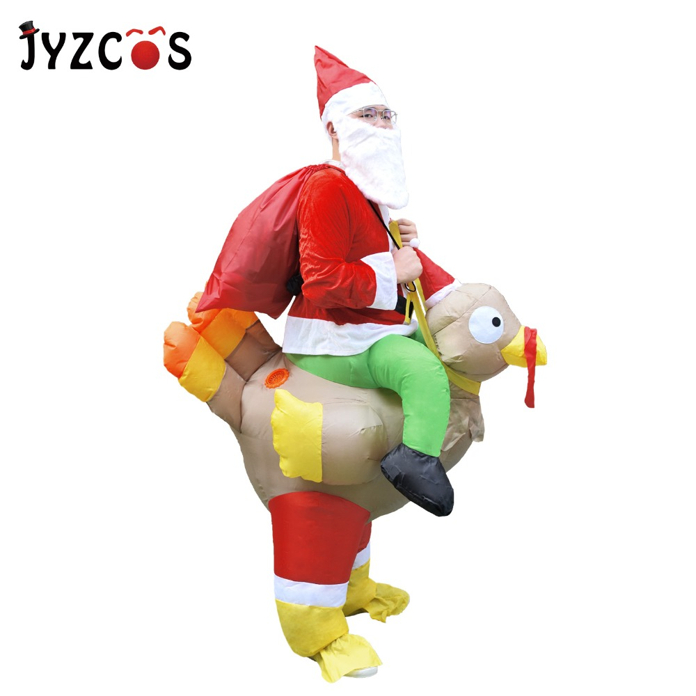 Aliexpress.com : Buy JYZCOS Christmas Inflatable Santa Claus Ride on ...
