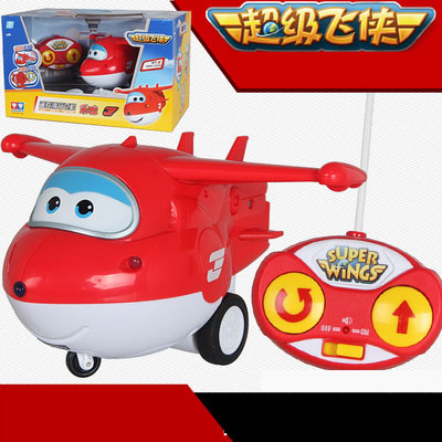 ФОТО SHINEHENG New Arrival Cartoon Super Wings Remote Control Plane Children Airplane Toy Birthday Gifts
