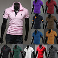 Hot-selling 2015 trend ! short-sleeve polo shirt onta short-sleeve shirts male