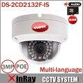 CÂMERA de 3MP IP HIK DS-2CD2132F-IS Mini Dome Câmera 1080 P POE IP Câmera de Segurança Multi-língua