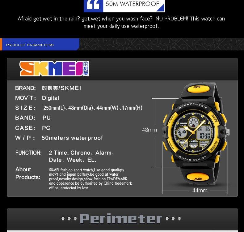 56da5cceaf7 SKMEI Esporte Infantil Relógios Moda Infantil Digital LED Watch Para  Meninos Das Meninas Estudantes Dos Desenhos Animados À Prova D  Água  Relógios ...