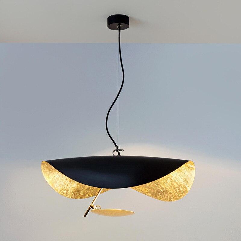 Pendentif LED postmoderne lumières soucoupe volante chapeau Art Hanglamp salon Restaurant cuisine luminaires décor à la maison Luminaire
