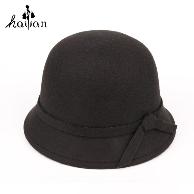 Gorra para el sol sombrero de las mujeres de invierno otoño sombreros de Moda vintage Retro Del Bowknot Elegante Del Bowknot Caliente Del Invierno Para Las Mujeres