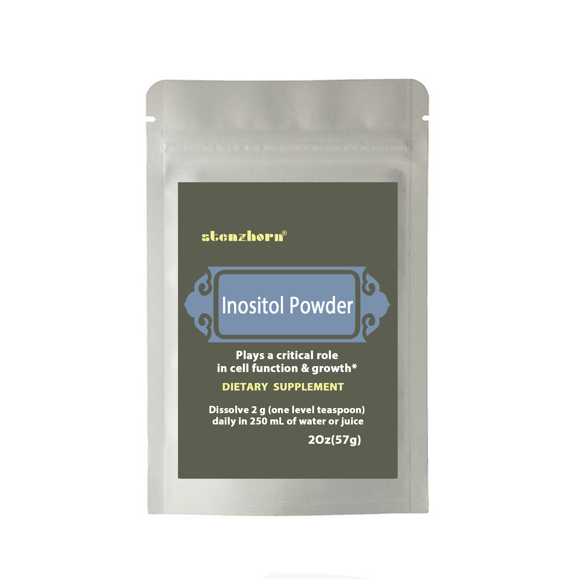 Inositol Powder 2Oz Plays a critical role in cell function & growth*