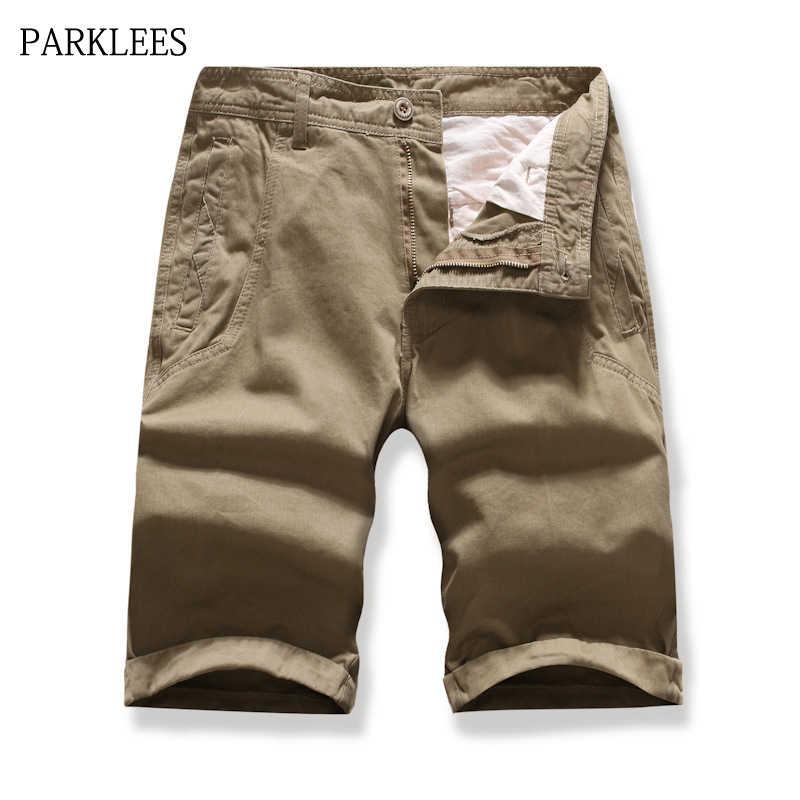 Pantalones Cortos Cargo Informales Para Hombre Pantalon Bermuda Liso Prendas De Vestir De Algodon Novedad Verano 2019 Pantalones Cortos Aliexpress