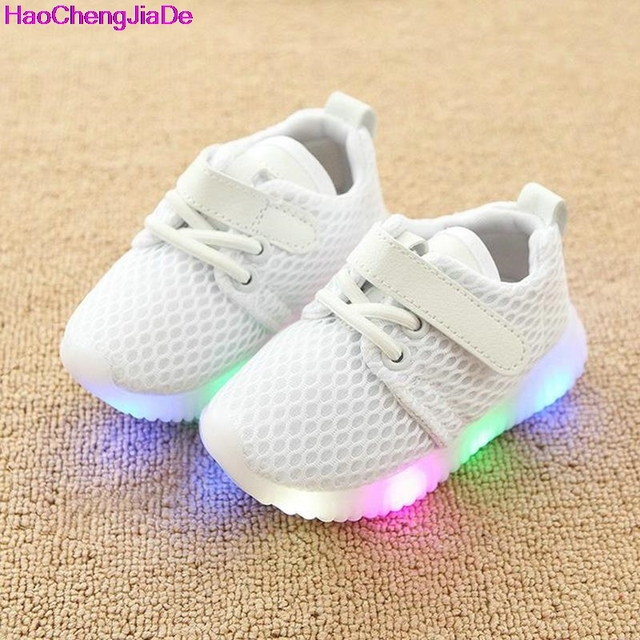 2da87d1bc662 HaoChengJiaDe New Fashion Children Shoes With Luminous Sneakers Shoes  Glowing Sneakers Baby Toddler Boys Girls Shoes LED Soft 18