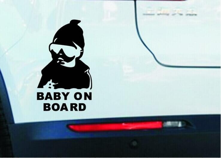 baby on board creative fashion car stickers for Toyota Camry Corolla RAV4 Yaris Highlander/Land Cruiser/PRADO Vios Vitz/Reiz