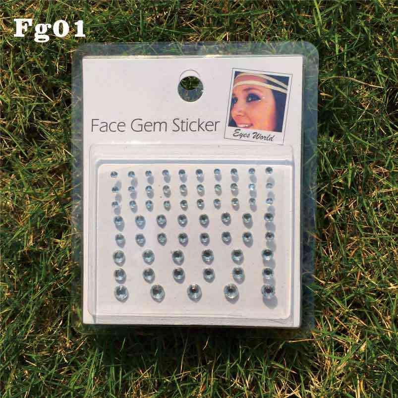 FG01 Make Up Gezicht Gems Sticker Diy Rhinstone Gift Ideeën Voor Party Punk En Met Gezicht Rotsen Fun
