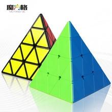 2018 QIYI Mofangge 4x4x4 Pyraminx Cube Black / Colorful Pyramid Magic Cube Puzzle  4*4*4 Speed Cube Children Toy Gift -48