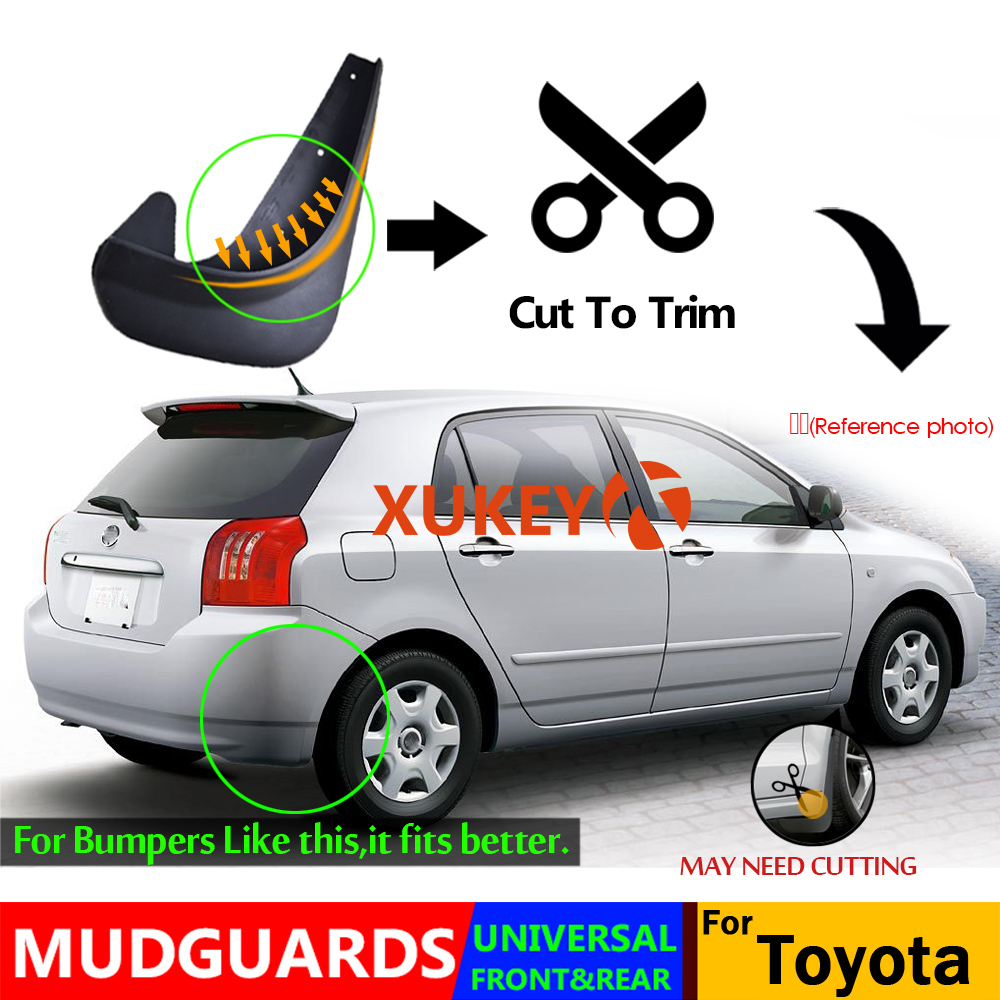 Image 4 - Universal Mudflaps Mud Flaps Flap Splash Guards Mudguards For Toyota Auris Avensis Aygo Camry CH R Corolla IQ Picnic RAV4 Yaris-in Mudguards from Automobiles & Motorcycles