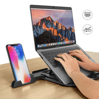 Suporte giratório ajustável para celular  suporte para laptop base de monitoramento de celular acessórios portáteis sikai