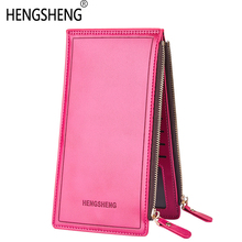 Long Zipper Business Card Holder For Phone Clutch Bag Wallet Female Male Men Women Coin Purse Kashelek Klachi Partmone Portmann baellerry 2017 brand new kashelek visiting holder case mens canvas zipper wallet men clutch hand bag fashion clutch coin purse