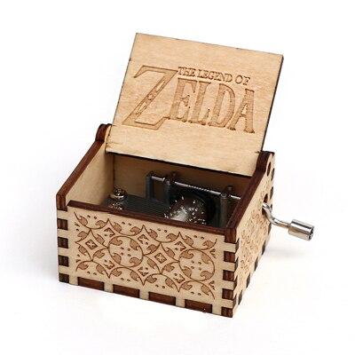 Прямая поставка, черная деревянная музыкальная шкатулка, игра в трон, Caja, музыкальная Zelda, ручная работа, Деревянная Музыкальная Коробка, рождественский подарок - Цвет: Zelda-Y