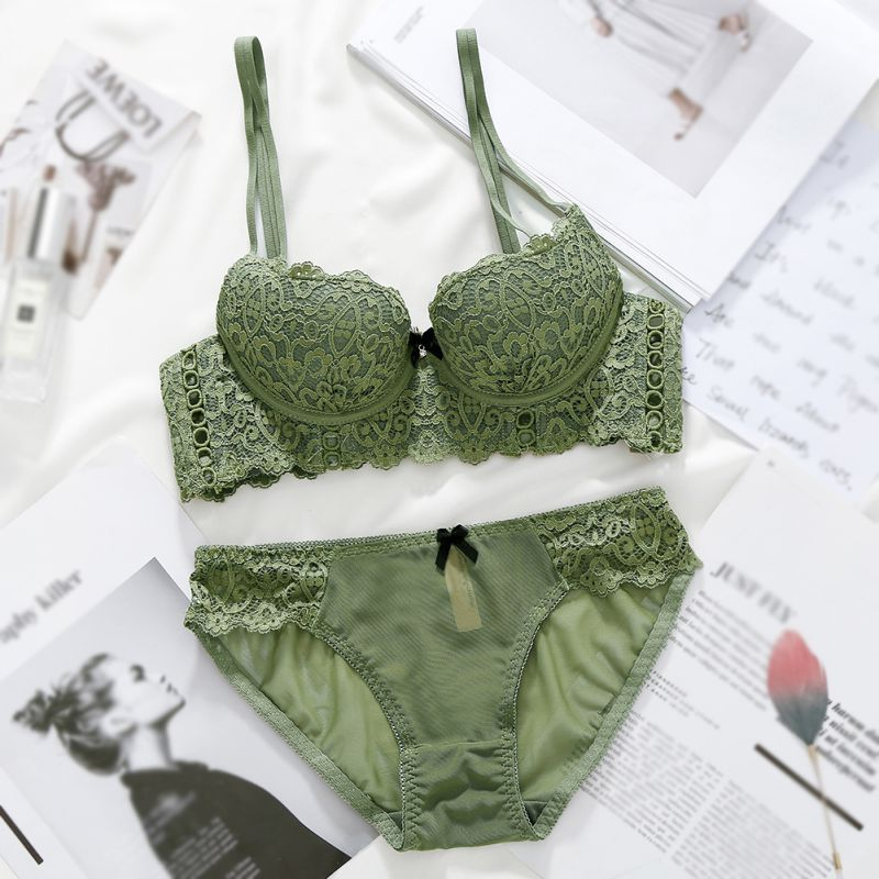 Fashion Sexy   Bra     Sets   Embroidery Lingerie Underwear Women   Set   Lace Comfortable Brassiere   Bras
