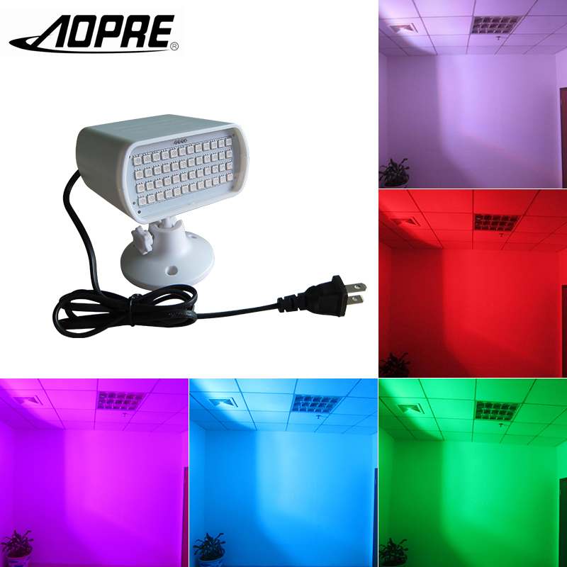 AOPRE Mini Stage Lighting Effect Strobe Light Flash RGB Disco LED Voice-control 18W Lamp 48 LED for Home DJ Party KTV w188a led rgb voice control stage light lamp for ktv bar party white
