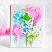 Naifumodo Balloons Dies Metal Cutting Scrapbooking Best Wishes Birthday Craft for DIY Photo Album Embossing Decor New 2019