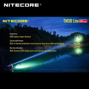 Image 5 - 小型モンスターシリーズ Nitecore TM38 Lite CREE XHP35 ハイ D4 LED 1800 ルーメン充電式サーチライトビーム距離 1400 メートル