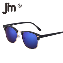 JM Wholesale Vintage Retro Sunglasses Women Men Half Frame Semi Rimless Lenses UV400 Sun Glasses 20 PCS/LOT Mixed Colors