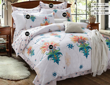 New Arrival 100% Cotton Europe Style Floral Bedding Set 4pcs Home Textile Bedding Set Printed Bedsheet Pillowcase Duvet Cover