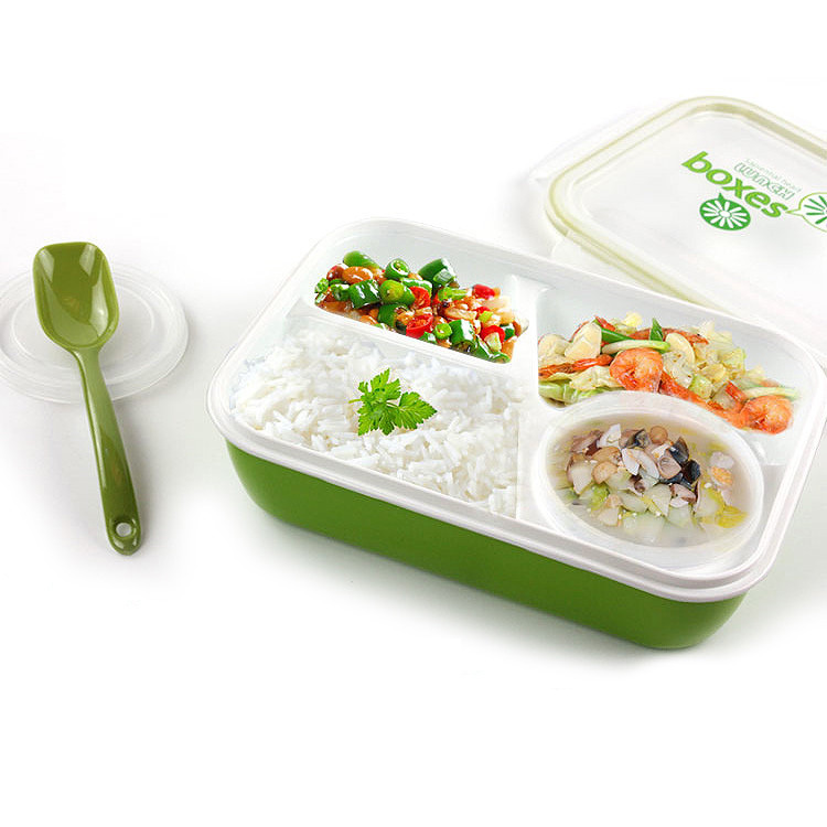 East sealed microwave lunch box 3 plus 1 bento box office For kids children school with