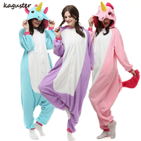 Unicorn Onesie Pajamas Sets Casual Fleece Lovers Adult Kugurumi Christmas Costume Sleepwear Winter Nightie For Women Men