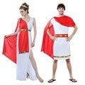 Senhoras Deusa Grega Cosplay Trajes Da Princesa Árabe Príncipe César Romano Fancy Dress Halloween Party Mulheres Homens Traje Athena