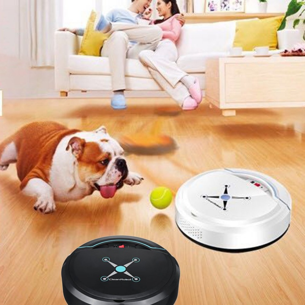 Newest Rechargeable Auto Robot Vacuum Cleaning Robot Automatic Smart Sweeping Floor Dirt Dust Hair Cleaner Home Sweeping Machine 2018 original xiaomi mi robot vacuum cleaner for home automatic sweeping dust sterilize smart planned mobile app remote control