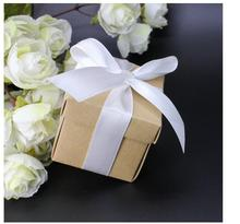 200pcs/lot! Kraft Paper Wedding Candy Box with ribbon decoracion vintage rustic wedding supplies gifts for guests