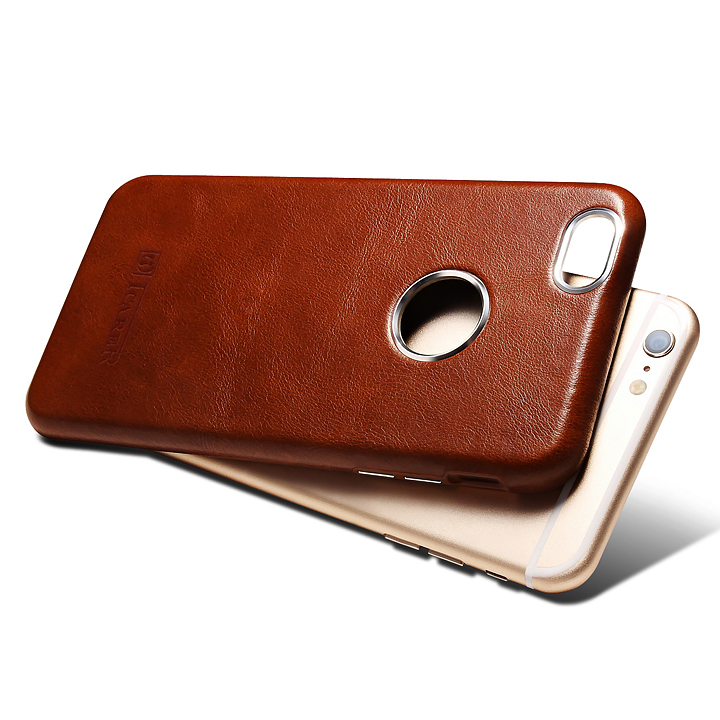 ICARER Business Style Retro Genuino Real Leather Logo Full Cover - Accesorios y repuestos para celulares - foto 5