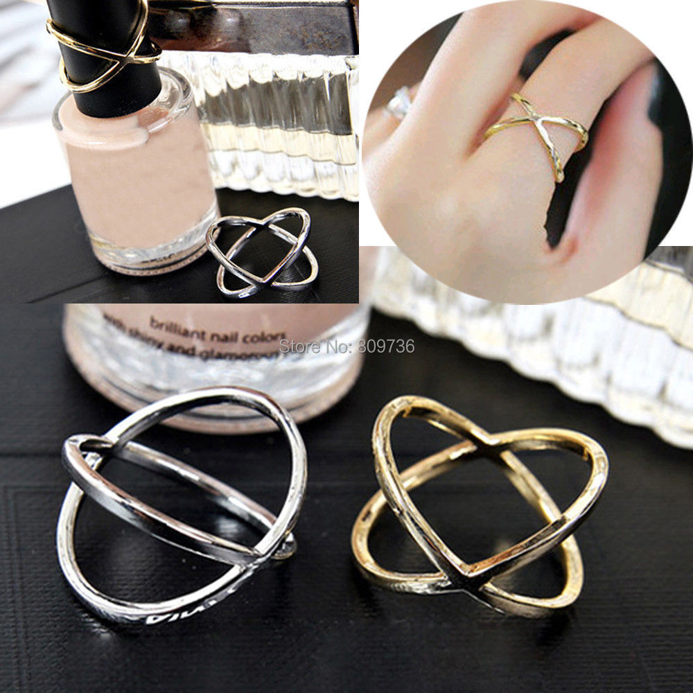 Korean Punk Gold Filled Silver Plated Design Simple Ring Fashion ...