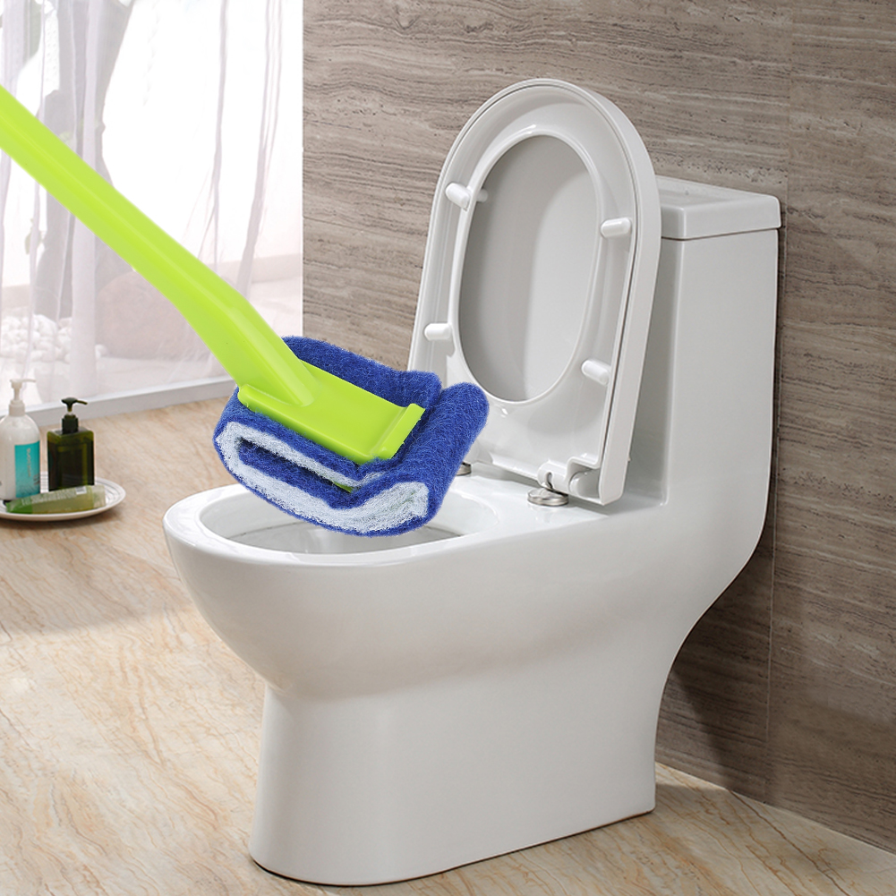 Plastic Long Handle Toilet Brush Bathroom Toilet Scrub Cleaning ...