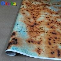 New Car Rust Protection Rusty Style Sticker Bomb Rust Vinyl Car Wrap Blue Camouflage Adhesive Film Camo Film 1.52x30m