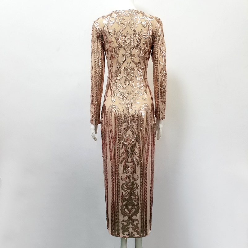 Sexy Bodycon Elegantes Abend Gerade Frauen Outfit Kleid Volle Geometrische Rayonne Party g6bfyIY7v