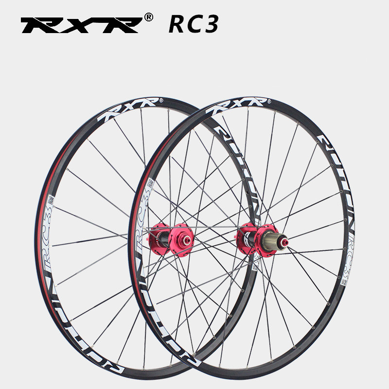 MTB Mountain Bike Bicycle Wheel Wheelset Disc Brake 26 27.5 29 Inch Front 2 Rear 5 Sealed Bearing Carbon Fiber Hub Alloy Rim 24H купить недорого в Москве