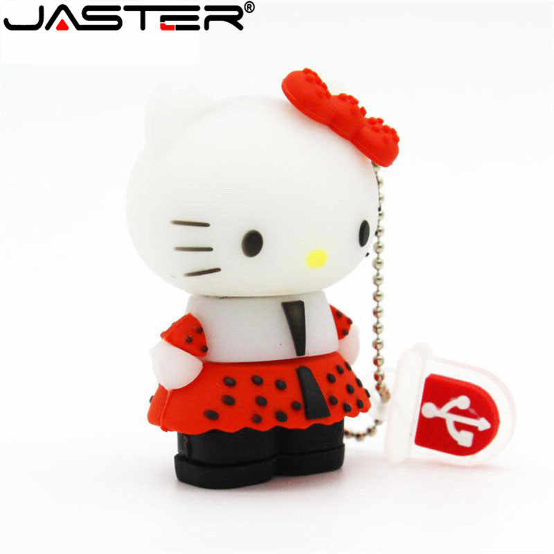 JASTER USB 2.0 Bonito olá kitty 16gb 32gb gb Pen Drive usb flash drive gb 64 8 super heros Flash usb Engraçado Minions memory stick