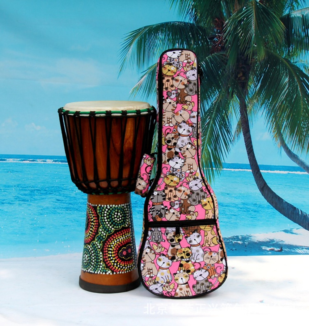 Kids beautiful gifts portable concert 23 24 ukulele bag small guitar colorful case soft gig backpack padded uku ukelele cover