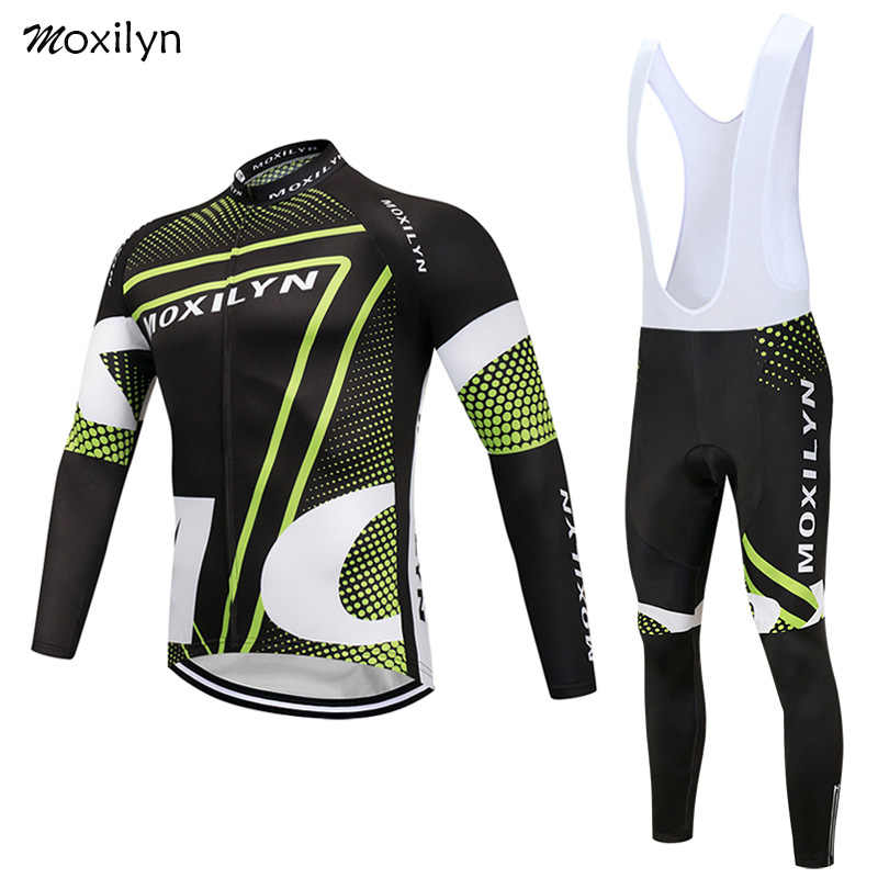 Moxilyn Winter Thermal Fleece Cycling Jersey Set Ropa Ciclismo Invierno  Hombre Roupa Ciclismo Bike Bicycle Clothing 8149f9dba
