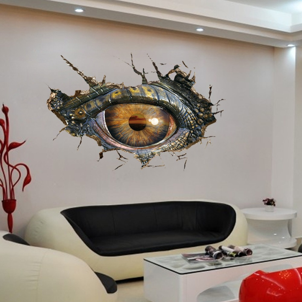 Dinosaur evil eye 3d wall stickers muraux for kids rooms decor dinosaur evil eye 3d wall stickers muraux for kids rooms decor vinilos adhesivos decorativos pared wallpaper dinossauro adesivi in wall stickers from home amipublicfo Gallery