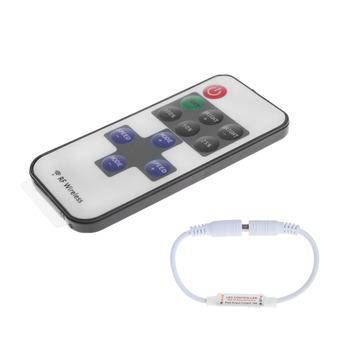 RF bezprzewodowy 11 klucz pilot zdalnego sterowania mini ściemniacz dla pojedynczy kolor pasek światła akcesoria oświetleniowe ściemniacze tanie i dobre opinie TCAM CN (pochodzenie) other Remote Controller Mini Dimmer Ściemniacze