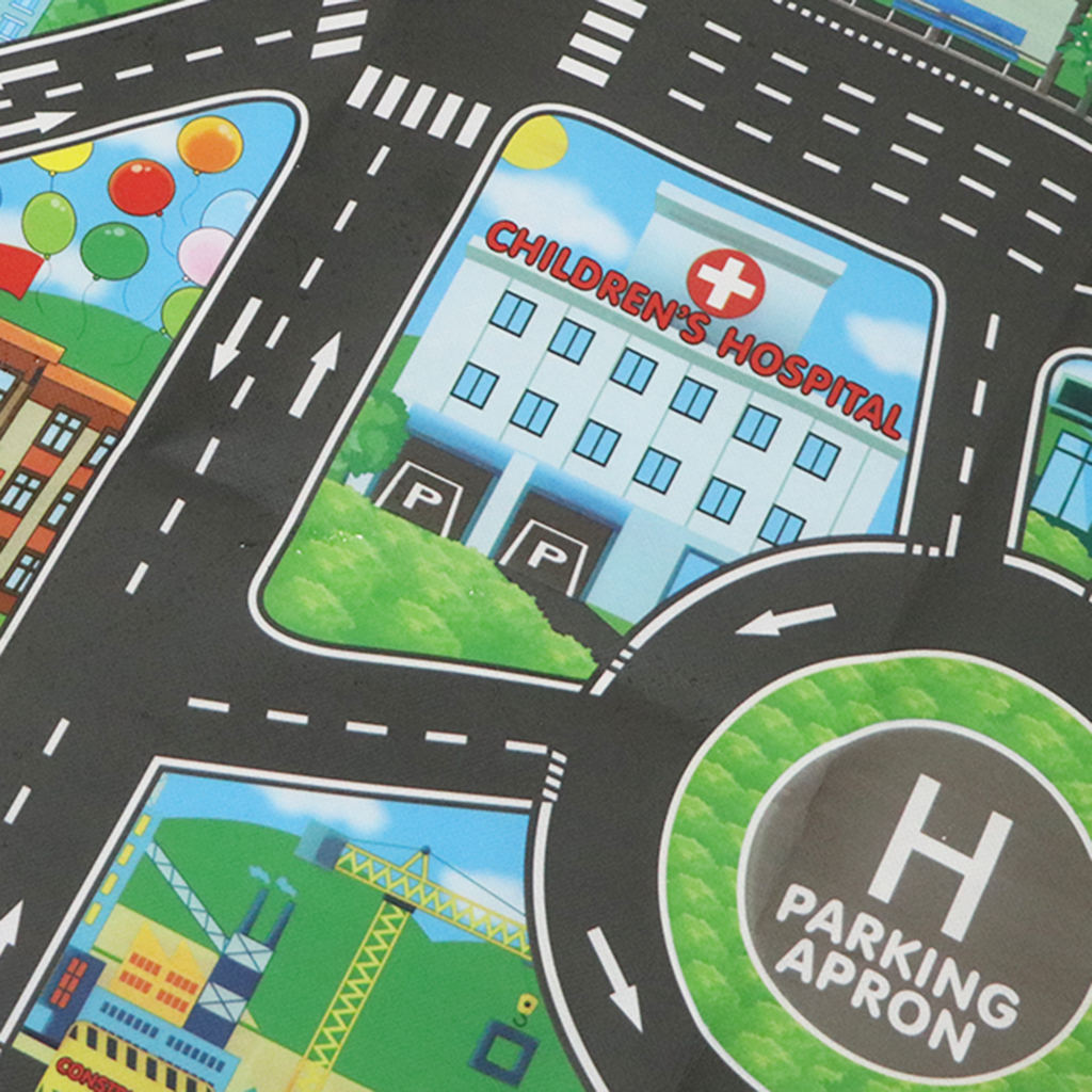 Kids Rug/Play Mat With City Traffic Roads Map For Cars & Train Game Toy Children Play Carpet Boy Girl Nursery Playroom Play Mat