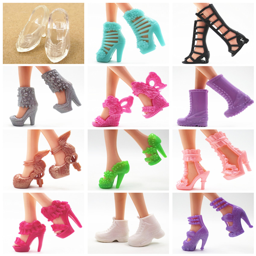 15 Pairs Doll Shoes Fashion Cute Shoes For Barbi Doll For Barbi Dolls Accessories Toys Girl Toys