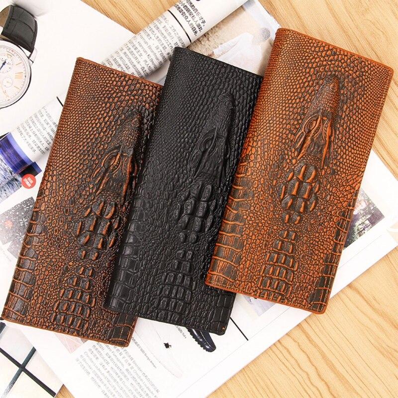 New Men's 3D Alligator Wallet Bifold ID Card Holder Purse Case Long Clutch Billfold