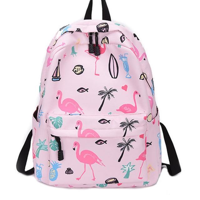e49759cb33cf Kawaii школьный рюкзак женский Единорог Harajuku рюкзак для девочек  Школьный рюкзак для женщин мультфильм Фламинго рюкзак