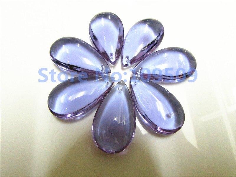 20 шт 38 мм люстра кристалл Teardtop смешанный цвет Гладкий каплевидный миндаль орнамент Призма