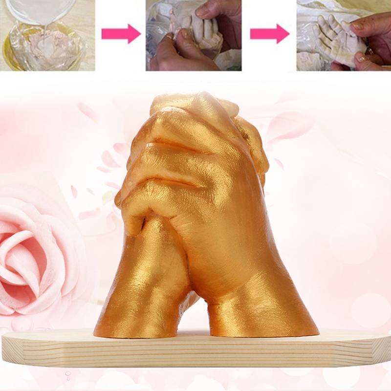 White Powder DIY Hand Mold Footprint Hands Feet Souvenir Mother'S Day Decorate Handprint Gift Baby Couple Fashion