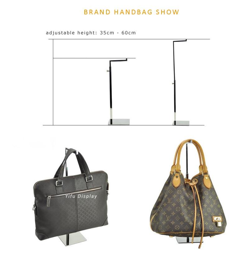 Free Shipping Polished Silver Handbag Stand Display Women Handbag